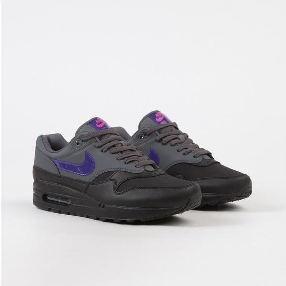 separation shoes 2d9f0 3c579 Nike Shoes   Air Max 1 Ripstop Dark Grey Fierce Purple   Poshmark nike air  max